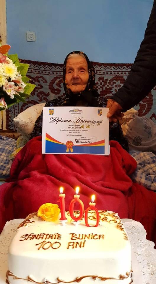 O femeie din Ardud, la vârsta centenarului (Foto)
