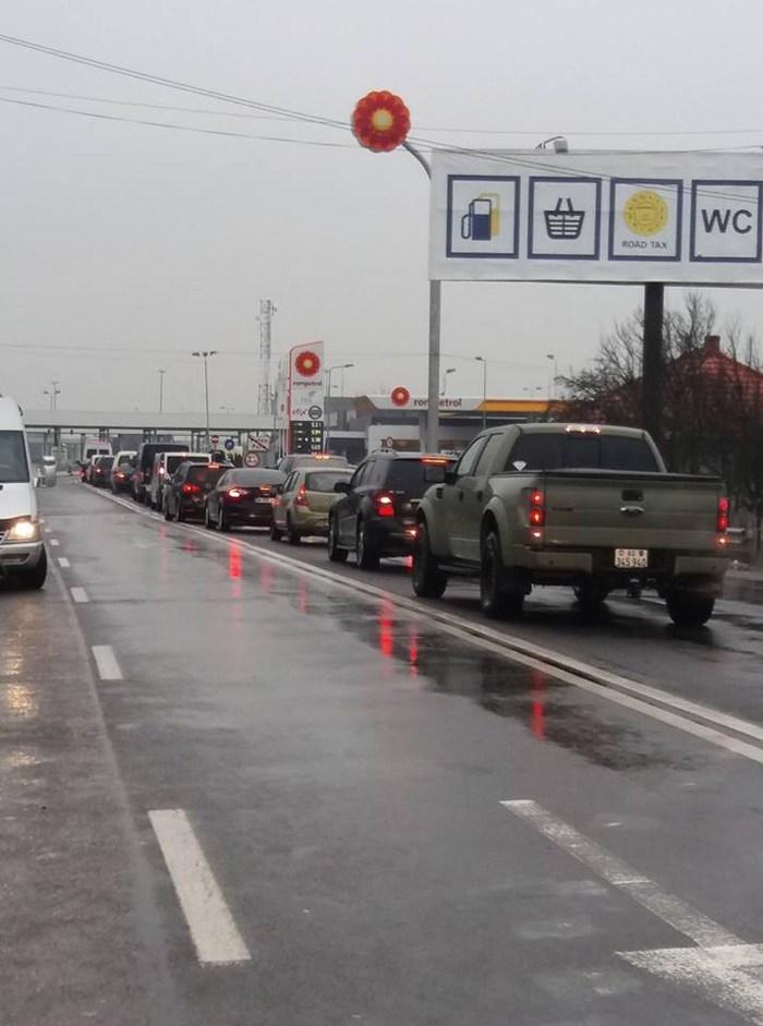 Trafic blocat temporar la granița cu Ungaria. Vezi care este motivul