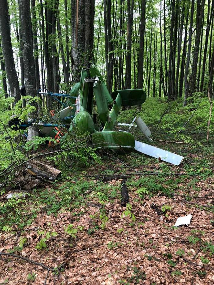Elicopter prăbușit lângă județul Satu Mare. (FOTO)