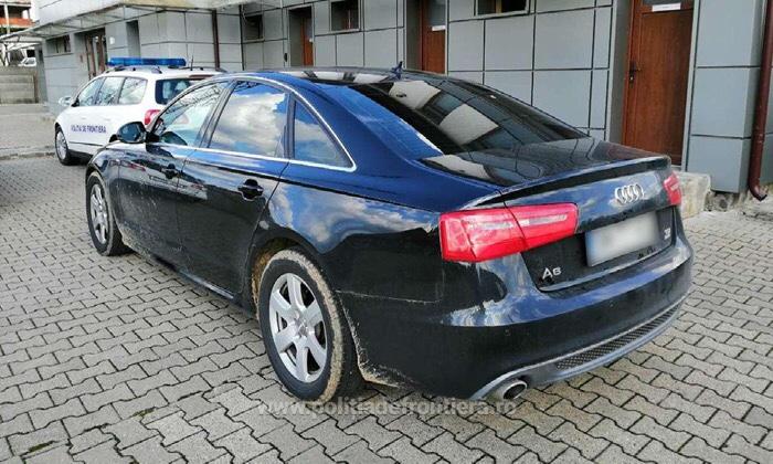 Autoturism furat depistat de Poliția de Frontieră Negrești Oaș