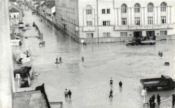 Sătmarul sub ape. Vezi cum a arătat orașul în mai 1970 (FOTO)