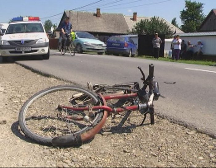 Accident grav. Biciclist, ranit
