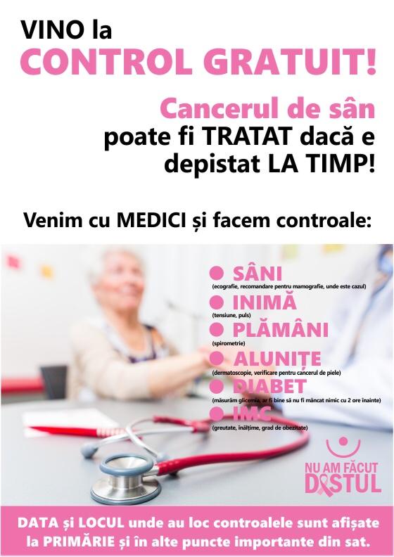 Testări gratuite pentru depistarea cancerului la sân