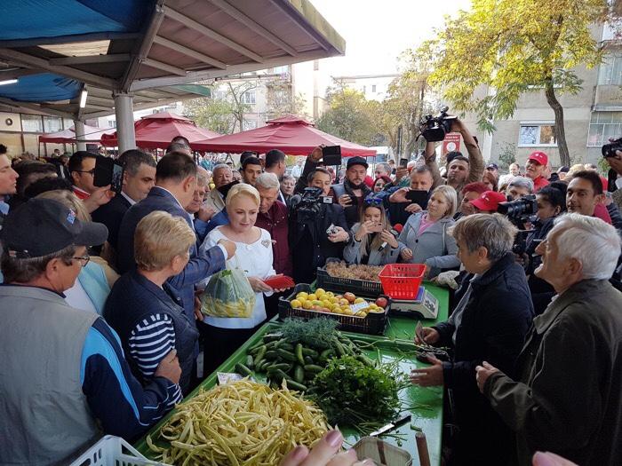 Premierul Dăncilă în vizită la Piața Someș