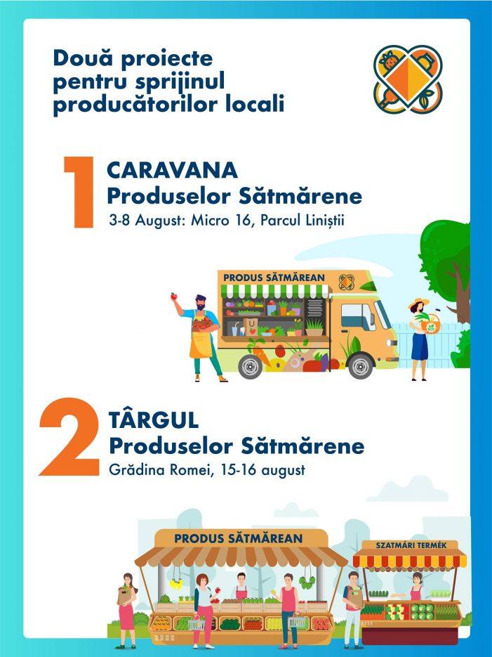 Veste bună pentru sătmăreni. Caravana Produselor Satmarene !