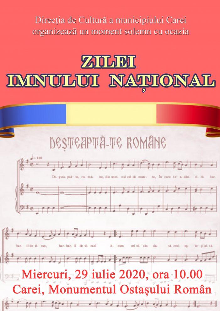 """""""Ziua Imnului National"""" va fi marcata solemn, la Carei"""