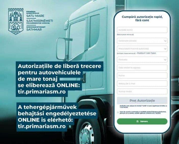 """Permisele de """"libera trecere"""" se pot obtine on-line"""