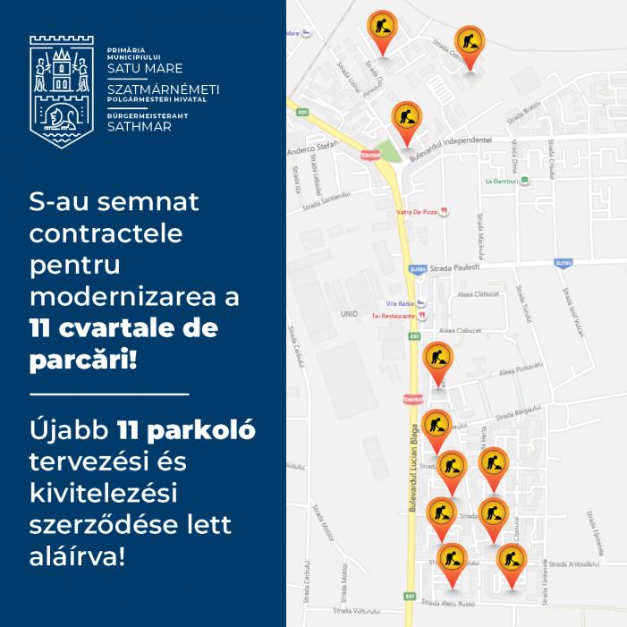 11 cvartale de parcari vor fi modernizate, in doua cartiere din Satu Mare