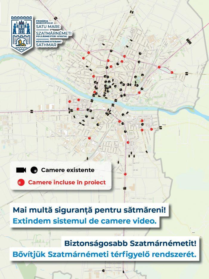 Noi camere de supraveghere în municipiul Satu Mare