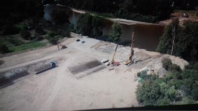 Santierul noului pod peste Somes, filmat cu drona (Video)