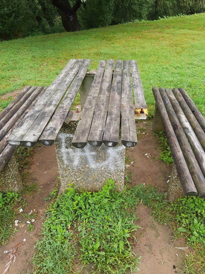 Zona de picnic, vandalizata. Cum arata ? (Foto)