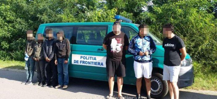 Calauze si migranti prinși cu focuri de arma. Au vrut să fugă de polițiști