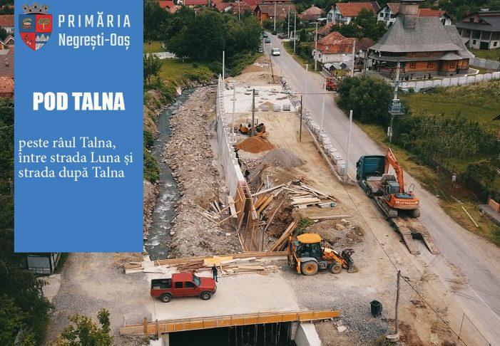 Patru poduri dintr-un foc, în Negresti-Oas. Stadiul lucrarilor (Foto)