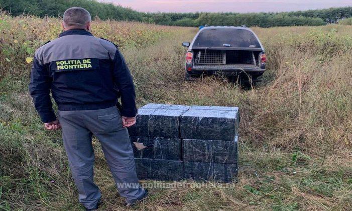 Mii de pachete de tigari, descoperite la Halmeu (Foto)