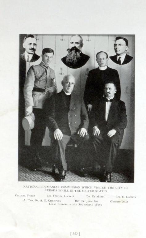 Dr. Vasile Lucaciu în SUA. Misiune consemnata într-un album apărut la Illinois (Foto)