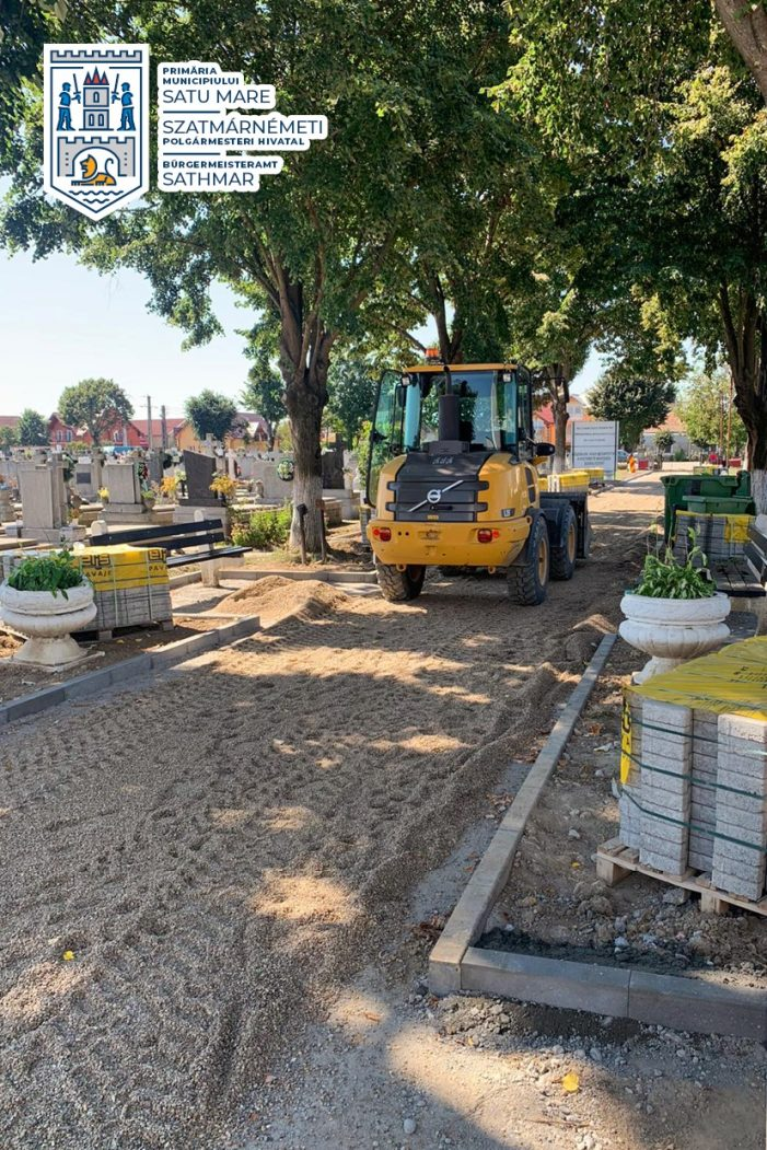 Se modernizeaza aleile în cimitir (Foto)
