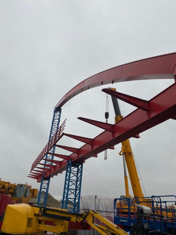 Podul de la Seini – Pomi, avanseaza în ritm alert (Foto)