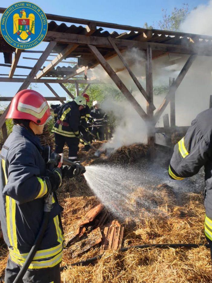 Incendiu la o anexă gospodărească (Foto)