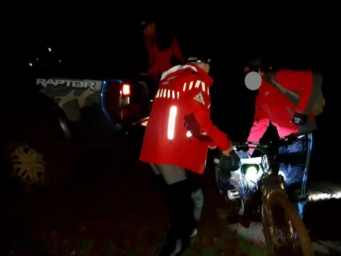 Biciclist ratacit, gasit de salvamontisti (Foto)