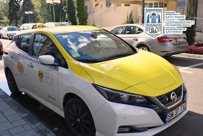 Primul taxi 100% electric, pe străzile din Satu Mare
