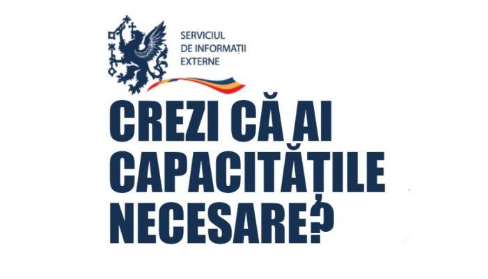 Serviciul de Informații Externe face angajări