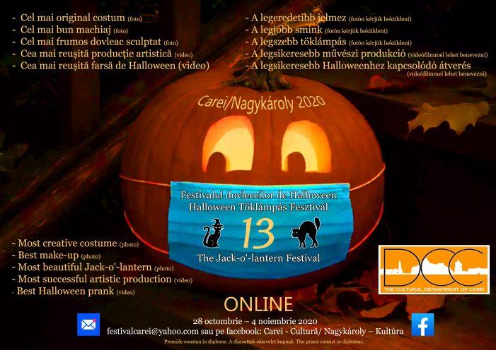 Festivalului dovleceilor de Halloween în centrul municipiului Carei