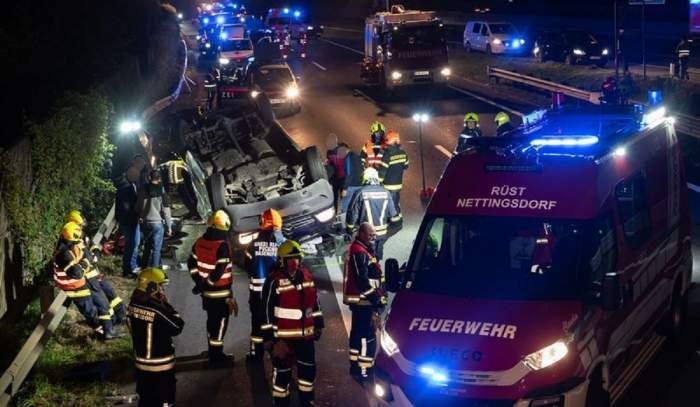 Microbuz lovit de TIR în Austria. 9 romani printre victime (Foto&video)