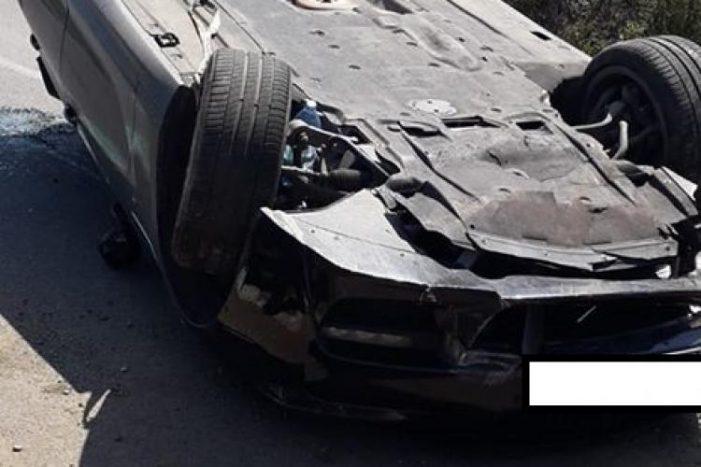Accident teribil ! O mașina s-a rostogolit aproximativ 20 de metri !