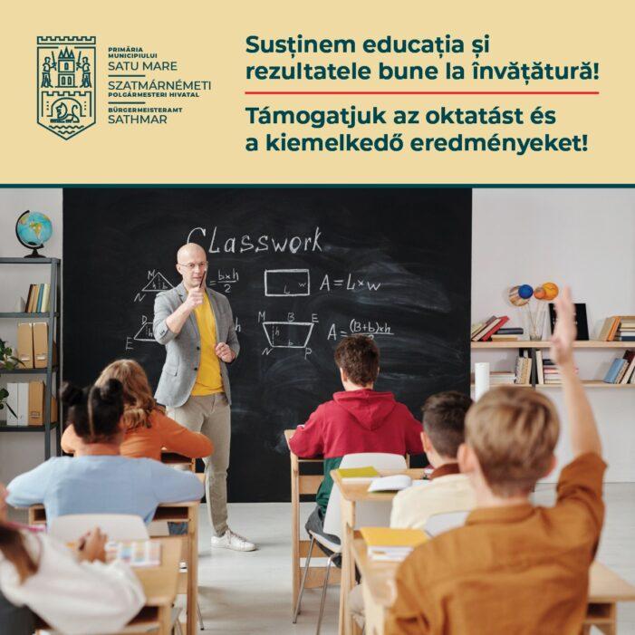 Peste 3000 de burse pentru elevii din municipiul Satu Mare