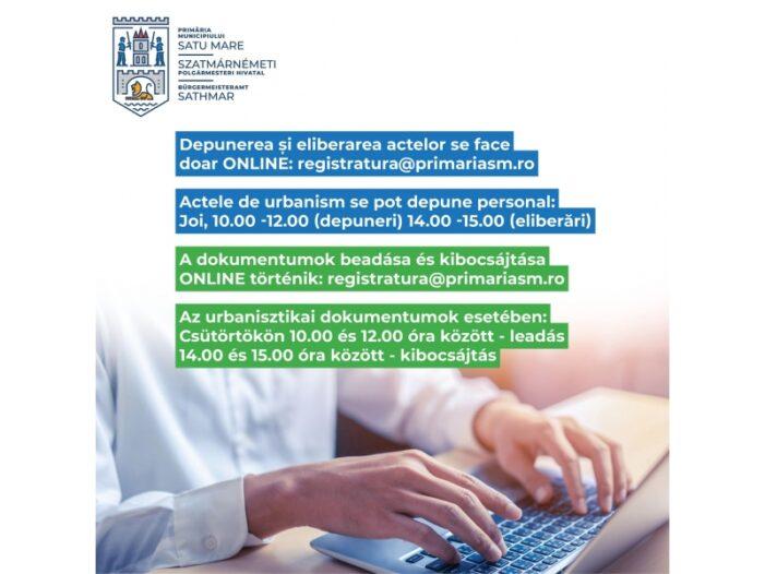 Primaria Satu Mare: Program on-line la Serviciul de Relatii cu Publicul