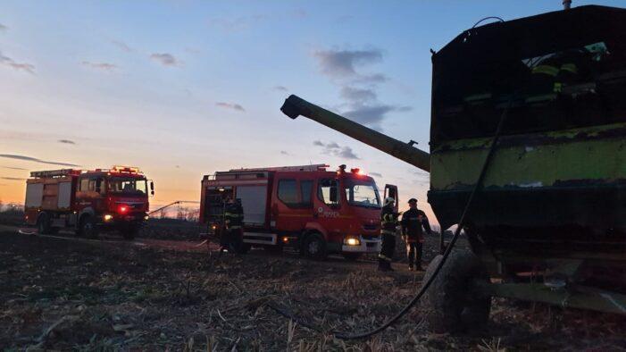 O combina a luat foc in Berindan (Foto)