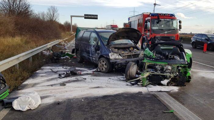 Satmarean implicat într-un accident, în Germania. Mașini făcute praf (Foto)