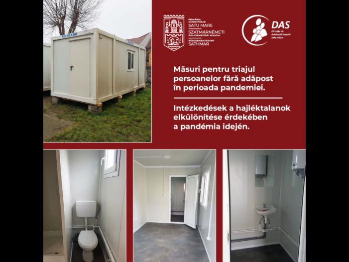 Măsuri pentru triajul persoanelor fără adăpost în perioada pandemiei