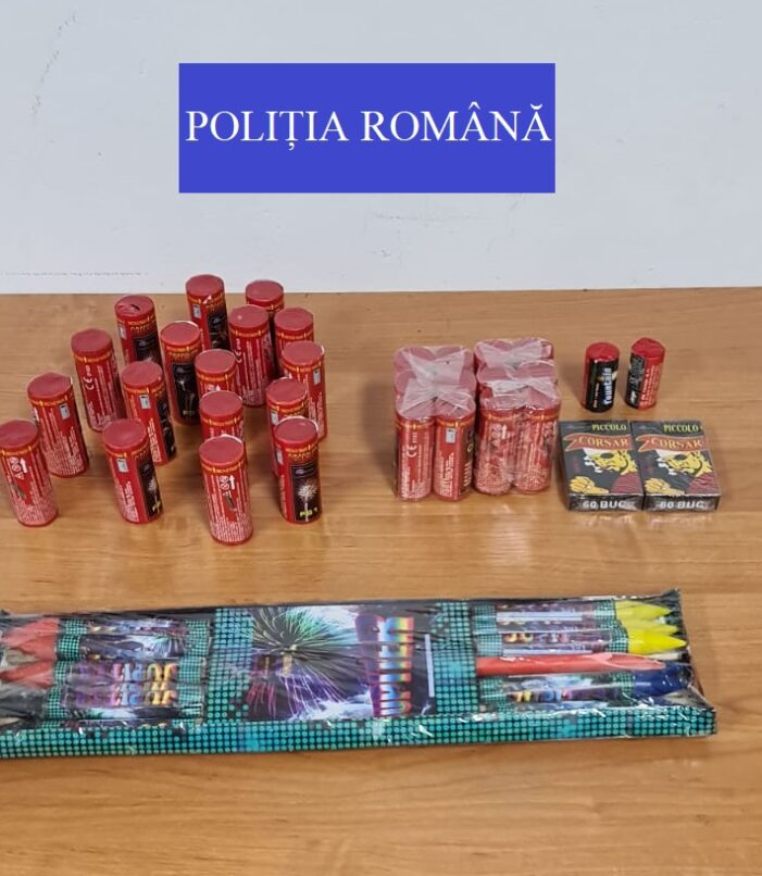 Articole pirotehnice confiscate de politisti