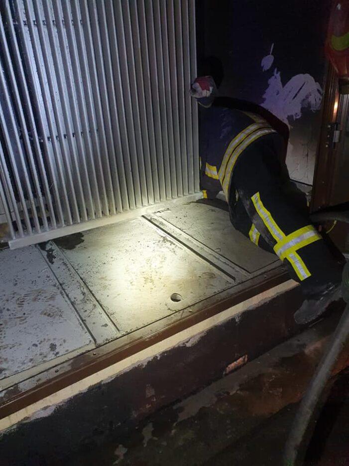 Un transformator a luat foc
