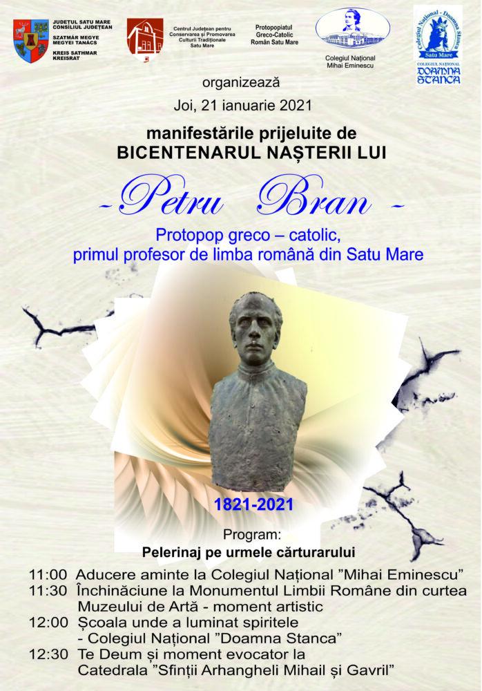 Bicentenarul nașterii lui Petru Bran – primul profesor de limba română din Satu Mare