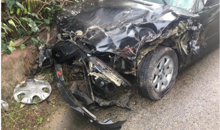 Tamponare cu trei răniți ! O mașina cu romani la bord, implicata în accident ! (Foto)
