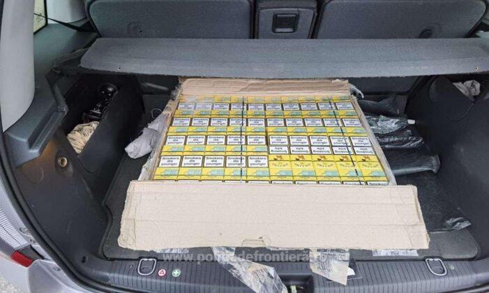 Traficant prins la Mediesu Aurit. Avea sute de pachete de țigări în mașina