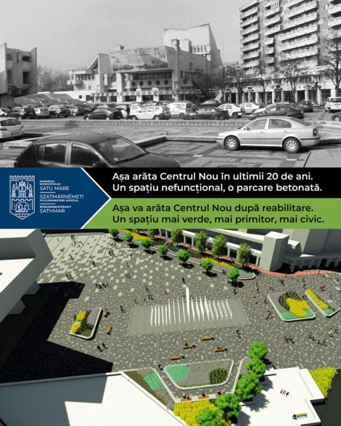 Așa va arata Centrul Nou după reabilitare (Foto)