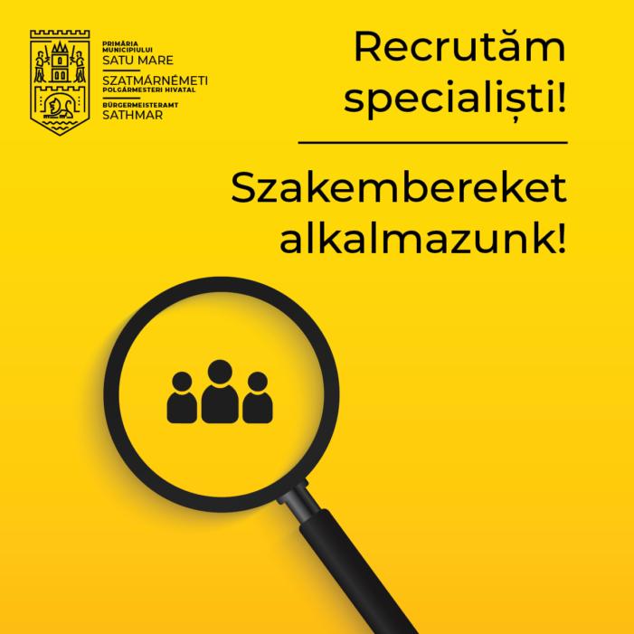 Primaria Satu Mare recruteaza specialisti. Vezi lista cu posturile vacante