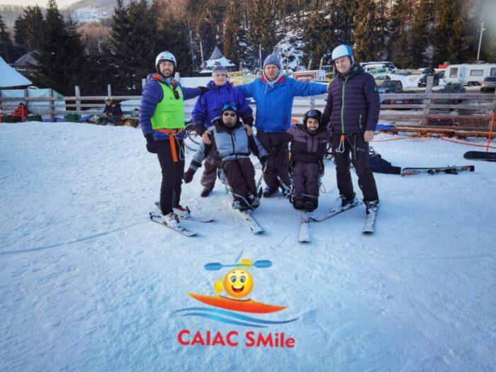 Proiect Caiac SMile: Scoate cât mai multe persoane cu dizabilitati, la zapada !
