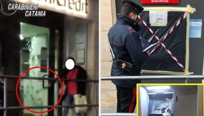 Romanca arestata în Italia ! A vrut sa sparga o banca … cu ciocanul !