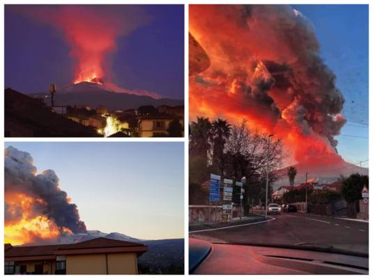 Cea mai puternica eruptie a vulcanului Etna. Aeroportul Catania, închis (Video)