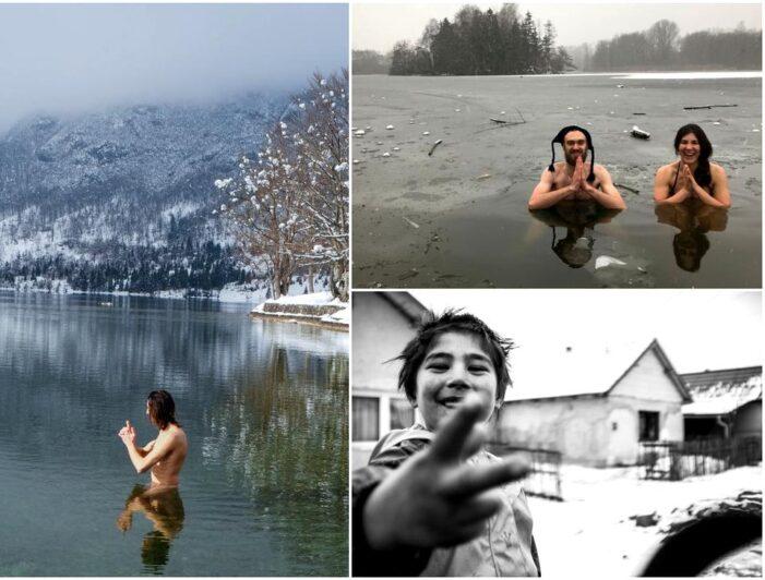 Zeci de nemți se scufunda în apa rece ca gheață pentru a ajuta o casa de copii din Satu Mare (Foto)