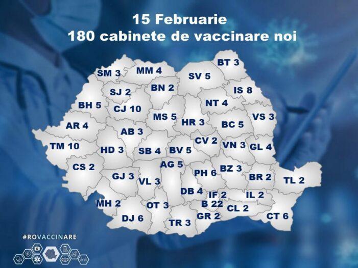 Harta cabinetelor de vaccinare cu Astra Zeneca. Trei vor funcționa în județul Satu Mare