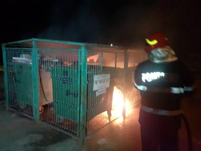 Foc la un tomberon din municipiul Satu Mare (Foto)