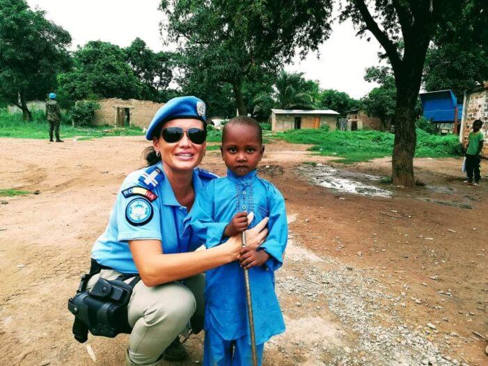 O româncă, în inima Africii. Și nu în scop turistic, ci unul militar (Foto)