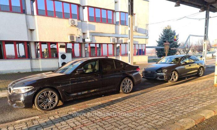 Mașini furate din Germania indisponibilizate la Petea