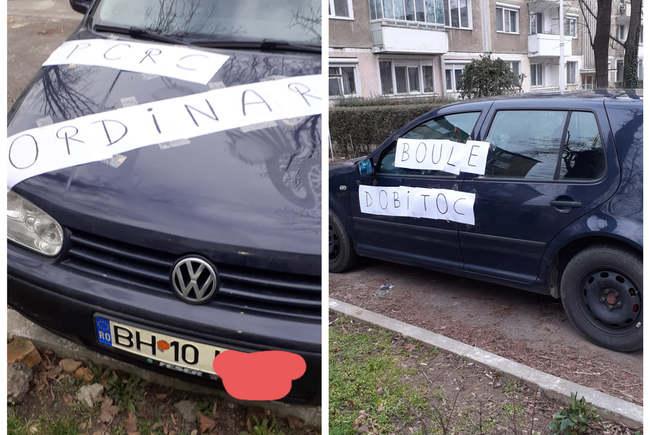 Surpriza totala pentru un sofer ! Ce mesaje a gasit lipite pe masina ? (Foto)