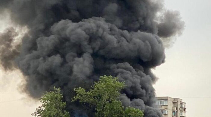 Incendiu la un depozit din Satu Mare